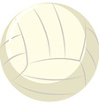 Volleyball ball on white background vector image vector image