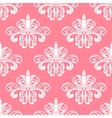 White on pink floral seamless pattern vector image vector image