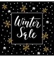 Winter sale background with handwritten text vector image