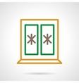 Winter window color simple line icon vector image vector image