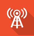 wireless icon with a long shadow vector image vector image
