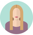 Young blondy woman flat icon Modern design vector image