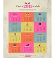 Calendar template hipster design Year of the goat vector image