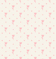 Retro seamless pattern Pink flowers and dots vector image