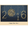 2016 Happy New Year greeting card vector image vector image