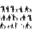 Pictogram people with kids