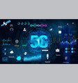 5g internet technology concept banner vector image vector image