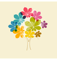 Abstract Colorful Tree on Old Paper Background vector image