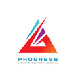 abstract triangle - logo template concept vector image