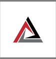 abstract triangle sign logo vector image vector image