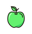 apple icon isolated on white background from vector image