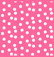 baby pink background scattered dots polka vector image vector image