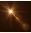 Background texture with warm sun and lens flare vector image vector image