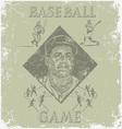 baseball coach vector image vector image
