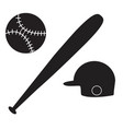 baseball icon on white background baseball sign vector image vector image