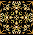 black tile with luxurious golden art deco decor vector image
