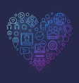 blog or blogging colorful linear heart vector image vector image