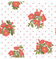 blooming wild flowers seamless pattern with polka vector image vector image