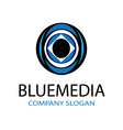 Blue Media Design vector image
