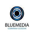 Blue Media Design vector image vector image