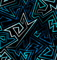 blue neon seamless pattern vector image vector image