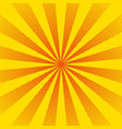 bright sun rays with yellow dots vector image vector image