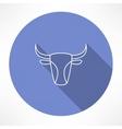bulls head icon vector image vector image