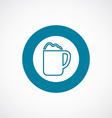 cappuccino icon bold blue circle border vector image vector image