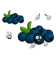 Cartoon Blueberry character vector image vector image