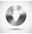 Chrome down button vector image
