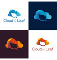 cloud and leaf vector image vector image