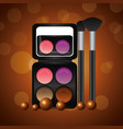 cosmetics makeup related vector image vector image