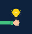 creative idea concept flat design thumb up with vector image vector image