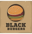 Creative logo design with burger vector image vector image