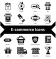 E-commerce Icons Black vector image vector image