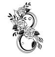 eight with contour roses vector image vector image