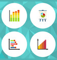 flat icon chart set of infographic statistic vector image vector image