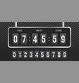 flip countdown clock counter vector image