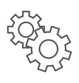gears cogwheel mechanism line icon design vector image