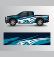 graphic abstract grunge stripe designs for truck vector image vector image