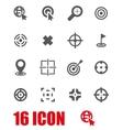 grey target icon set vector image vector image