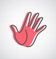 Hand logo design vector image vector image