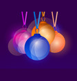 hanging christmas balls with multicolor gradient vector image vector image