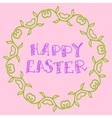Happy Easter Background Simply Hand Drawn vector image