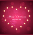 happy new year merry christmas flakes and heart vector image vector image