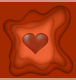 heart cutting blurred pattern vector image