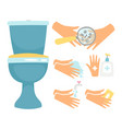 hygiene after toilette flat vector image vector image