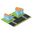 isometric la buildings vector image vector image