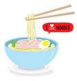 japanese noodle ramen food bowl vector image