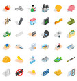 joint stock company icons set isometric style vector image vector image